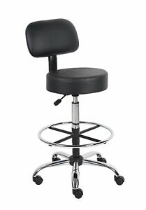 Boss Office Products B16245 bk Be Well Medical Spa Drafting Stool 3dayship