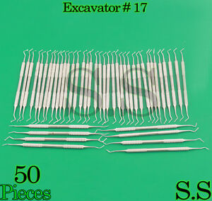 Set Of 50 Dental Excavator 17 Double Ended Spoon Dental Instruments