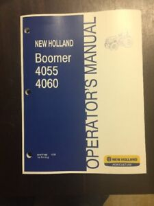 New Holland Boomer 4055 4060 Series Non cab Tractor Manual 87477192