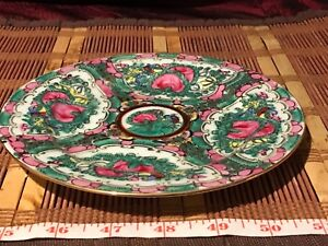 Asian Porcelain Acf Rose Medallion Bread Dessert Plates 7 1 4