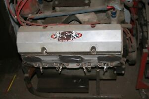Used Chevy 410 Usmts Race Engine Dart Shp Pro Block Brodix Heads 40 Nights