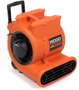 Ridgid Air Mover Blower 3 Speed Heavy Duty Induction Motor Power Tool 1625 Cfm