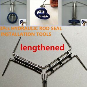 18cm Hydraulic Cylinder Piston Rod Seal U cup Installation Tool Lengthened 3pcs