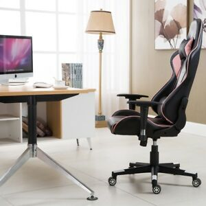 Home Office High Back Gaming Racing Chair With Lumbar Support Black