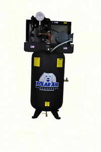 5 Hp 2 Stage Sp 80 Gallon Vertical Air Compressor