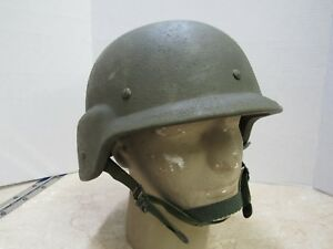 USGI MADE WITH KEVLAR HELMET SIZE LARGE PASGT L1 1983 DATE GENTEX EARLY ISSUE