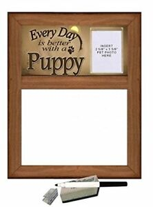 Puppy Dry Erase Marker Board every Day Is Better With A Puppy Featuring Clea