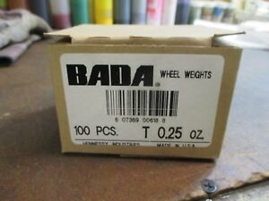 100 - NEW  .25 OZ. LEAD CLAMP ON WHEEL WEIGHTS