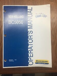 Oem Operators Manual For New Holland Bc5050 Square Hay Balers