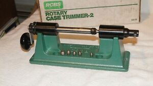 RCBS Rotary Trimmer-2 Kit w Box Reloading Tools Used Case Trimmer