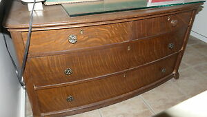 Palm Springs Antique Dresser Oak Ash 4 Drawer Excellent 42x20x24 1900s Pick Up