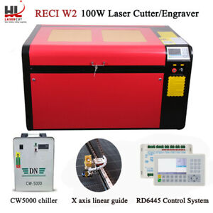 100w Co2 Usb Port Laser Engraver Cut Auto Focus Cw5000 Chiller 390mm Lift