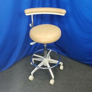 Forest Dental Assistant Stool Almond Upholstery