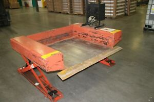 1 Used Presto Lee Engineering 4000 Pound Pallet Lift Table With Hand Control 1