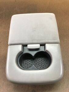97 03 Ford F150 Center Console 2 Cup Holder Arm Rest Light Gray Oem Read