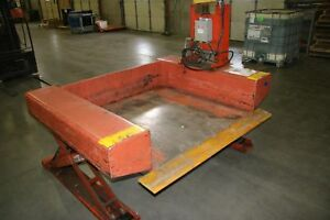 1 Used Presto Lee Engineering 4000lb Pallet Lift Table With Hand Control 17431