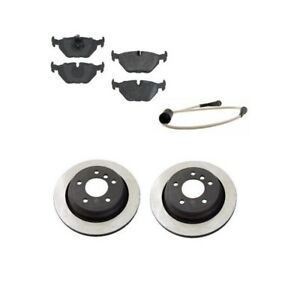 Rear Brake Kit W Rotors Semi Metallic Pads And Sensor Op For Bmw E39 540i 00 03