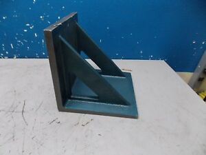 Professional Cast Iron Angle Plate 10 X 10 X 10 Double Web Precision Ground