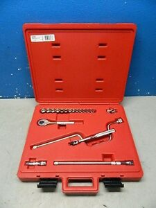 Proto 3 8 Drive 12 Point 6mm 19mm Metric Socket Wrench Set 20 Pc J52224