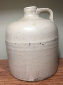Vtg Ceramic Hand Thrown Container Pottery Moonshine Whiskey Jug Primitive 7 5