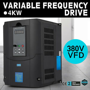 4kw 5hp Single Phase Speed Variable Frequency Drive Inverter Vsd Vfd 7a 380v