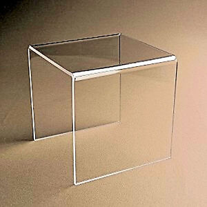 10 Clear Acrylic Plastic Risers Display Stand Pedestal 4 X 4 X 4