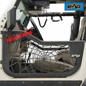Eag 97 06 Jeep Wrangler Tj Spyder Web 2 Steel Tube Doors With Sideview Mirrors