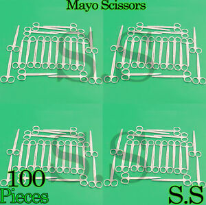 100 Mayo Dissecting Scissors Straight 6 Surgical Instruments