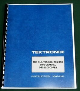 Tektronix Tds310 320 350 Instruction Manual Comb Bound Protective Covers