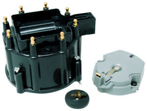 Msd 5501 Street Fire Distributor Cap And Rotor Kit Gm Hei Black Cap