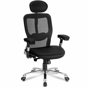 Ergonomic Modern Luxe Mesh High Back Office Chair Desk Chair With Headrest New