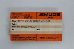 Emuge 4 40 Unc 2b 1enorm z e Tin Bu5137005003 Spiral Pointed Tap Lot Of 2