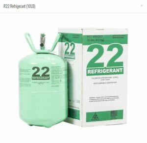 R22 R 22 R 22 Refrigerant 10lb Cylinder Freon made In Usa