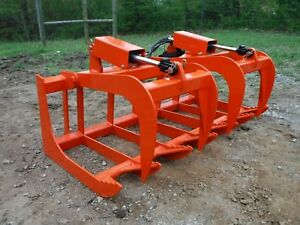 Kubota Tractor Attachment 60 Dual Cylinder Root Grapple Bucket 99 Ship