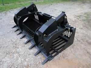 Quicke Euro Global Tractor Loader Attachment 80 Rock Bucket Grapple Ship 199