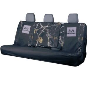 Realtree Black Camouflage Universal Bench Seat Cover Full Size Car Truck Auto