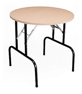 Round Folding Dump Banquet Table Knockdown Retail Store Display Fixture 36 New