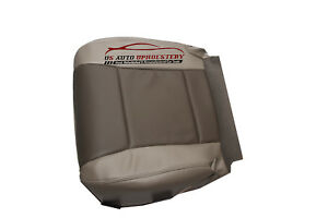 2007 Ford Explorer Driver Side Bottom Replacement Leather Seat Cover 2 Tone Gray