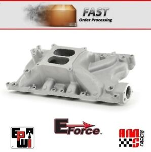 Ford 351w Windsor Satin Aluminum Dual Plane Performance Intake Manifold