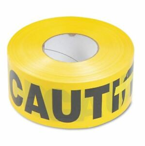 Tatco Caution Barricade Safety Tape Non adhesive Yellow 3w X 1 000 Ft Roll