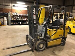 Used 4800 Yale Glc050 Lp Propane Forklift Hilo Fork Truck 3 stage Mast