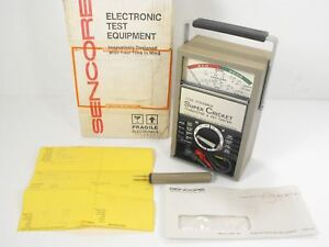 Sencore Tf 46 Super Cricket Transistor Fet Tester W Original Box