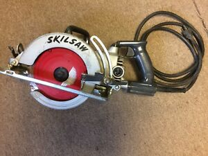 Skil Worm Drive Saw Model 77 With Case And Blades