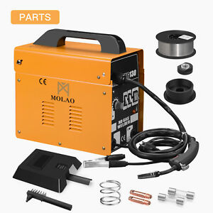 Mig 130 Welder Flux Core Automatic Feed Wire Free Welding Machine With Mask