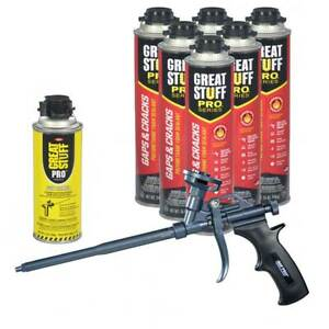 Dow Great Stuff Gaps Cracks 24 Oz Pro Cans Teflon Foam Gun Dow Gun Cleaner
