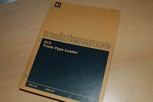 Caterpillar 973 Front End Track Loader Owner Maintenance Manual Book Guide Lube