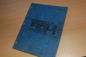 Mitsubishi Mt1800 Mt180 Tractor Parts Manual Book Spare List Catalog Farm Engine
