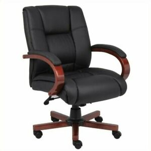 Scranton Co Mid Back Executive Office Chair In Cherry