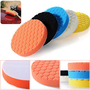 5 Pack 6 7 Polishing Sponge Waxing Buffing Pads Compound Auto Car Polisher