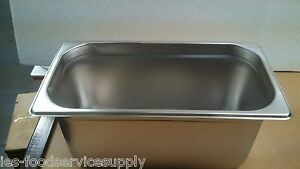 lot Of 6 Third Size 6 Deep Stainless Steamtable Pans Hot Food Steam Table Pan